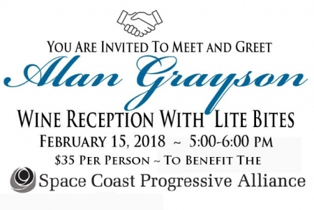 Meet & Greet Alan Grayson at SCPA Fundraiser!