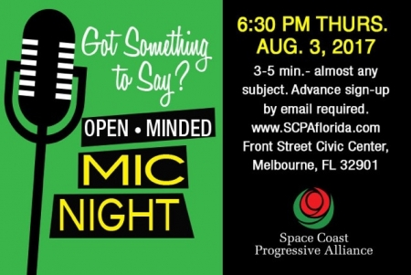 SCPA 1st THURSDAY: 'Open-Minded Mic Nite!'